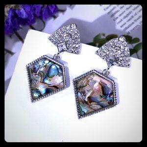 Betsey Johnson drop rhinestone earrings